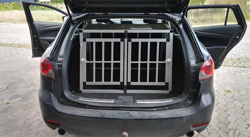 SafeCrate Double Medium Premium i Mazda 6 Stationcar 2015