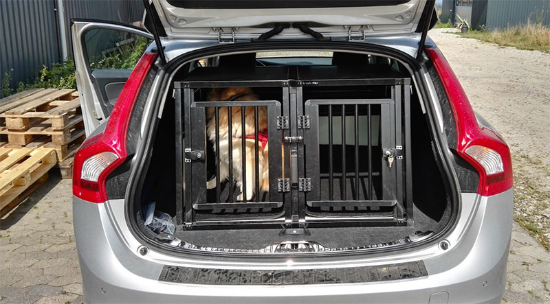 Hundebur til 2 hunde - b-Safe Double Small PRO i Volvo V60 2016