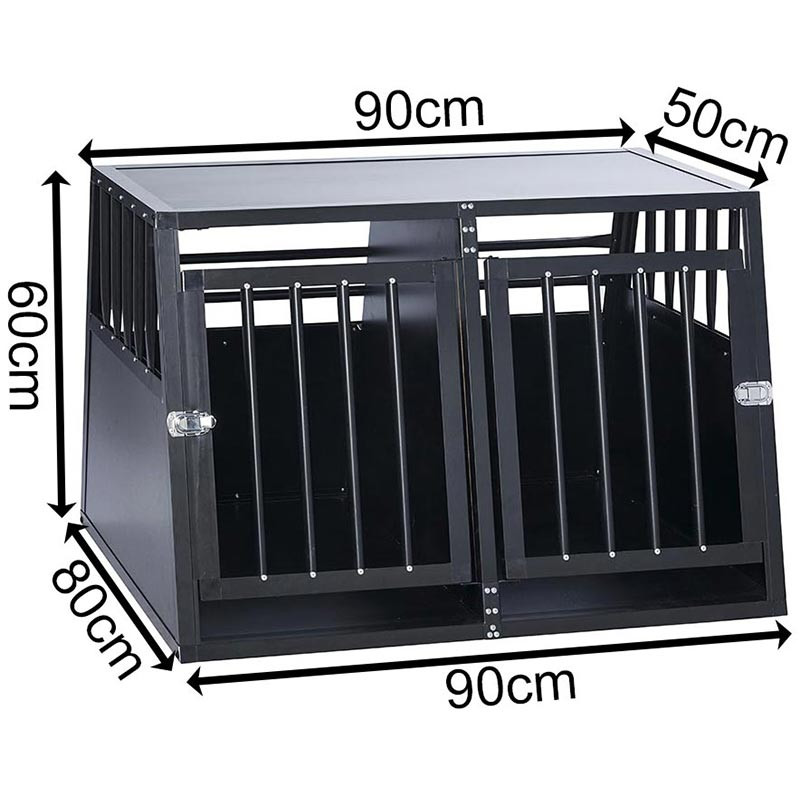 SafeCrate Double Medium - 3. Generation Hundebur