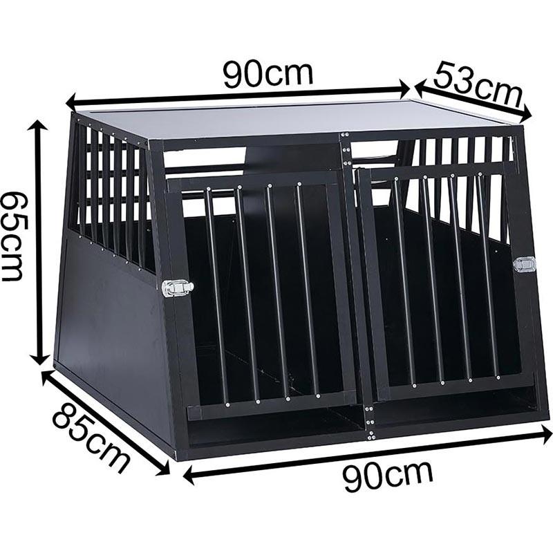 SafeCrate Double XL --> Inkl. Skillevæg <-- | 3. Generation Hundebur