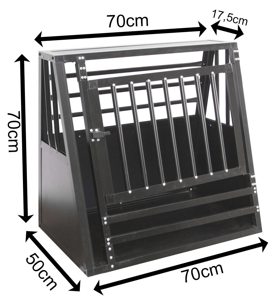 SafeCrate Medium Wide med Trin - 3. Generation - Hundebur