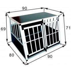 SafeCrate Double Large Premium - Dobbelt Hundebur Til 2 Mellemstore Hunde Op Til Labrador Formel 1 Størrelse (2. Generation)