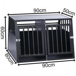 SafeCrate Double Medium - 3. Generation Hundebur